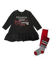 Костюм: Платье, колготы Losan Mc baby girls (026-8035AD/63) Черный 7 Years-122 см