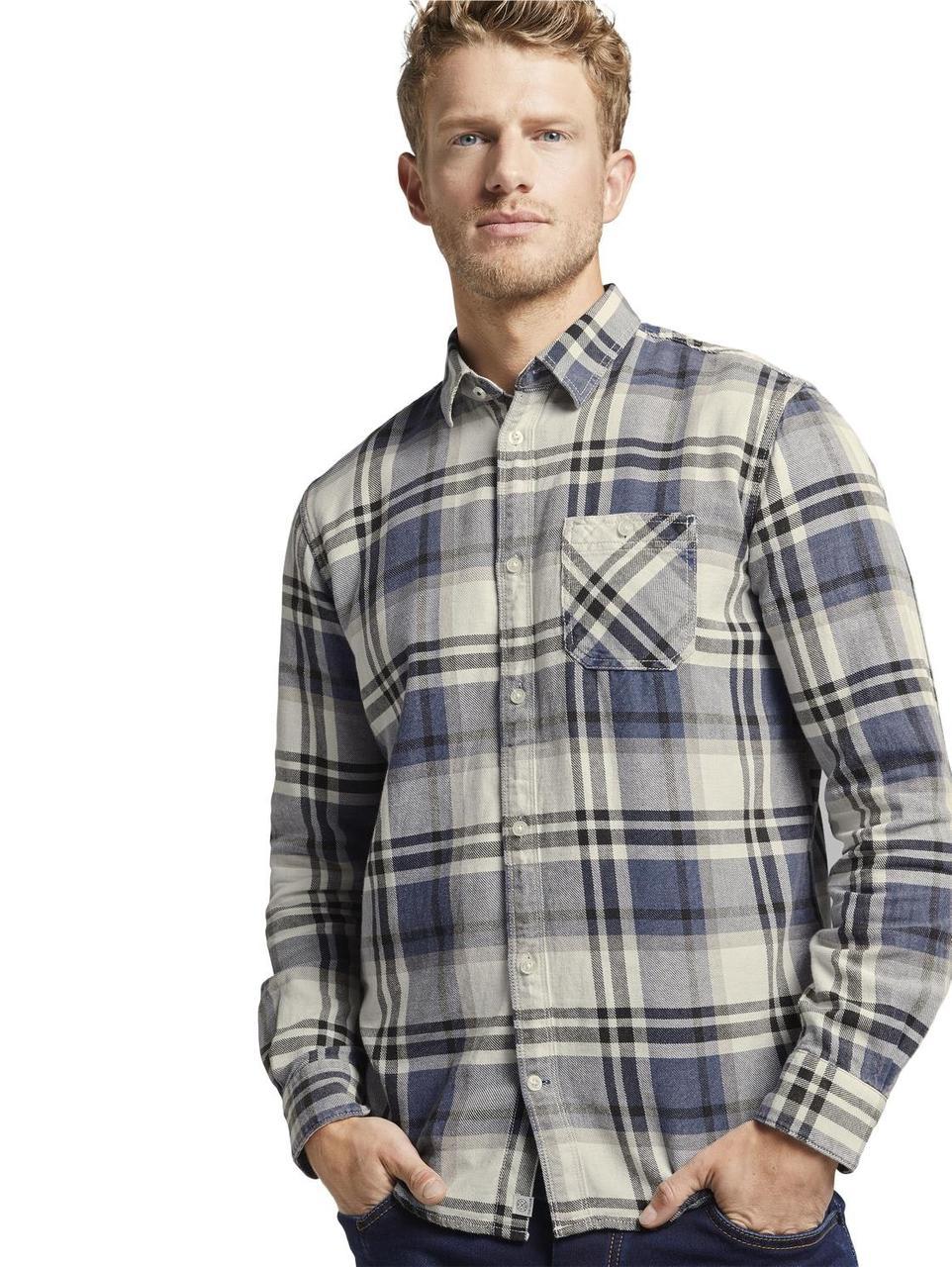 Рубашка Tom Tailor 1015317 XL Синий с белым