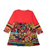 Костюм: Платье, колготы Losan Mc baby girls (526-8009AD/59) Коралловый 7 Years-122 см