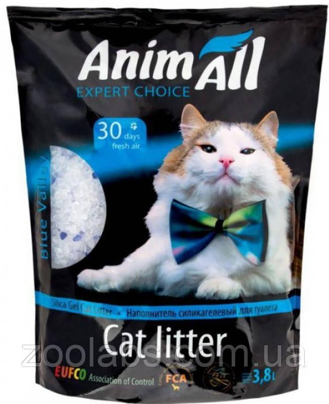 Наполнители для туалета Энимолл | AnimAll Кристаллы аквамарина силикагелевый наполнитель 3,8 л