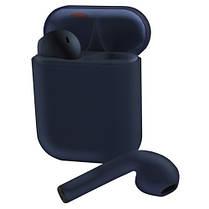Беспроводные bluetooth-наушники V99-Touch с кейсом, navy blue, фото 2