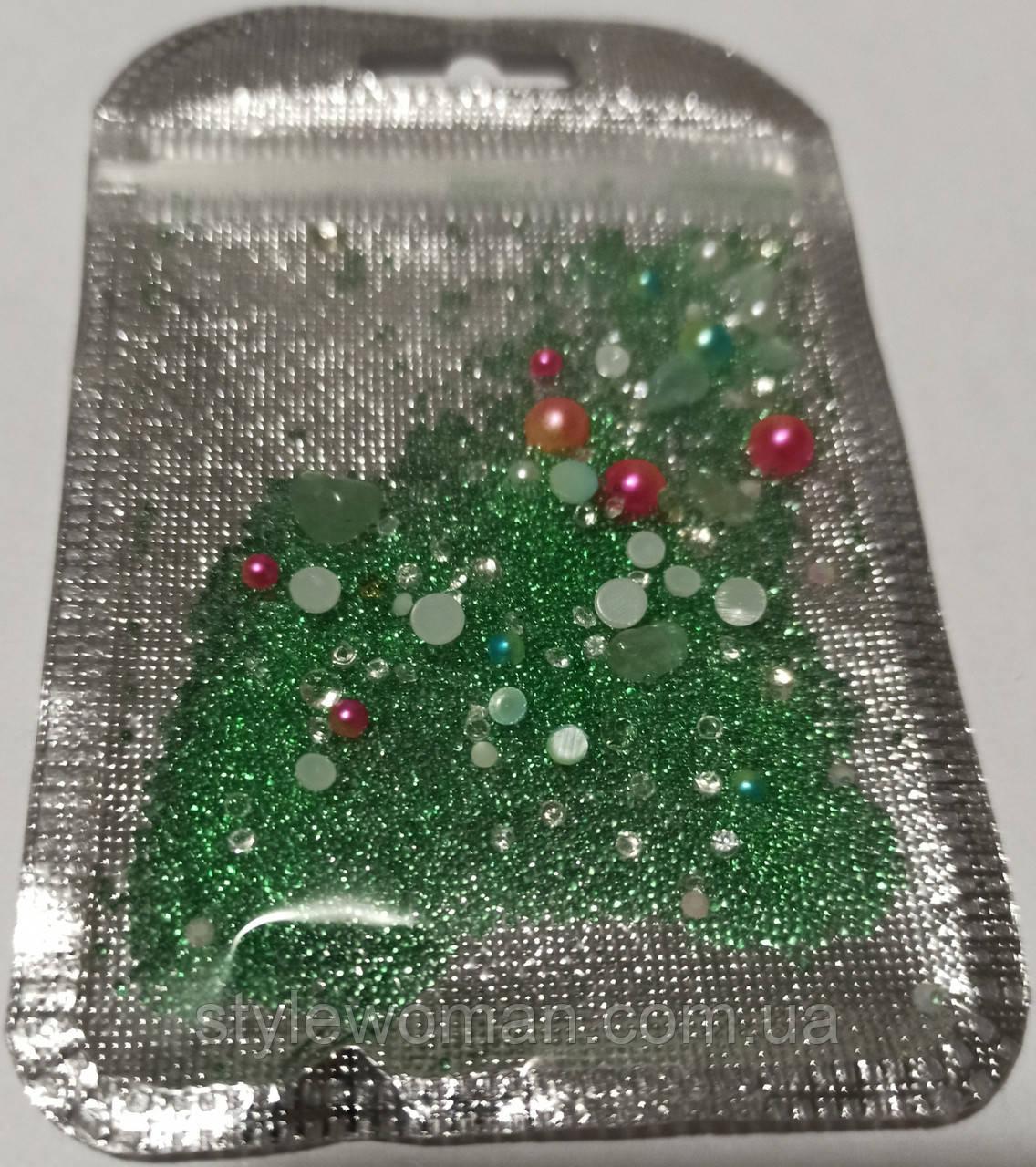 Бисер бульон для дизайна ногтей икринки пластик