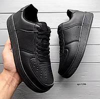 Мужские кожаные кроссовки Black FRE, фото 1