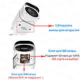 3G 4G GSM Беспроводная наружная Видеокамера 1080P  с записью на SD карту, фото 4