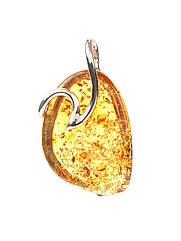 Кулон с янтарем серебряный 1098PEN-k
