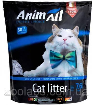Наполнители для туалета Энимолл | AnimAll Кристаллы аквамарина силикагелевый наполнитель 7,6 л, фото 2