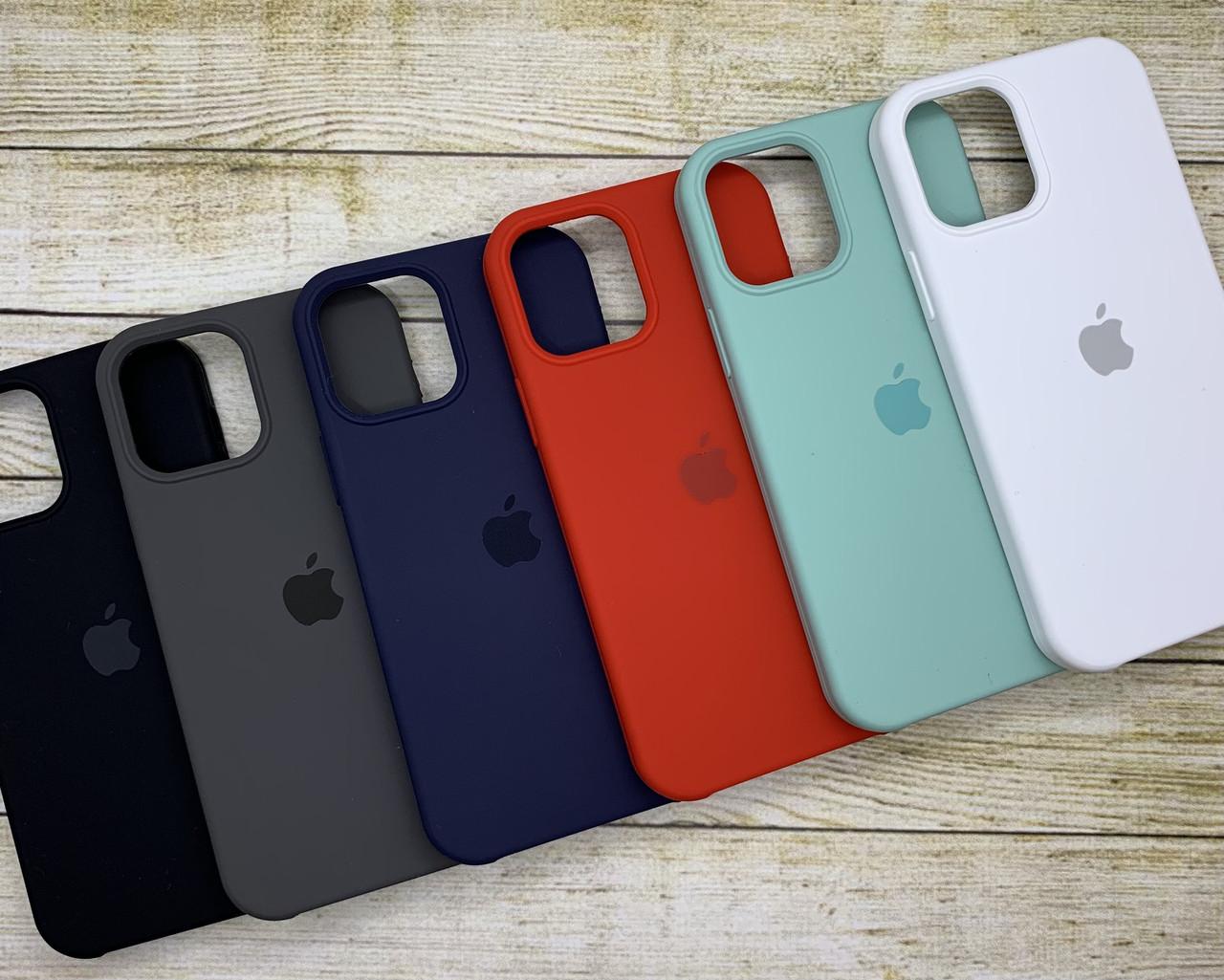 Чехол на iPhone 12 Pro силиконовый Silicone Case оригинальный цветной противоударный
