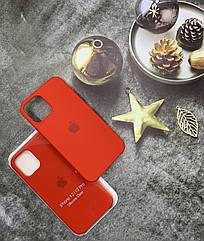 Чехол с микрофиброй для iPhone 12 Pro оригинальный Silicone Case противоударный цветной