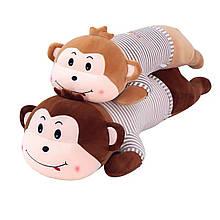 Игрушка подушка плед Обезьянка, плюшевая декоративная подушка-плед 3в1
