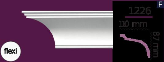 Карниз стельовий гладкий 1226 (2.44м) Flexi Home Decor ліпний декор з поліуретану