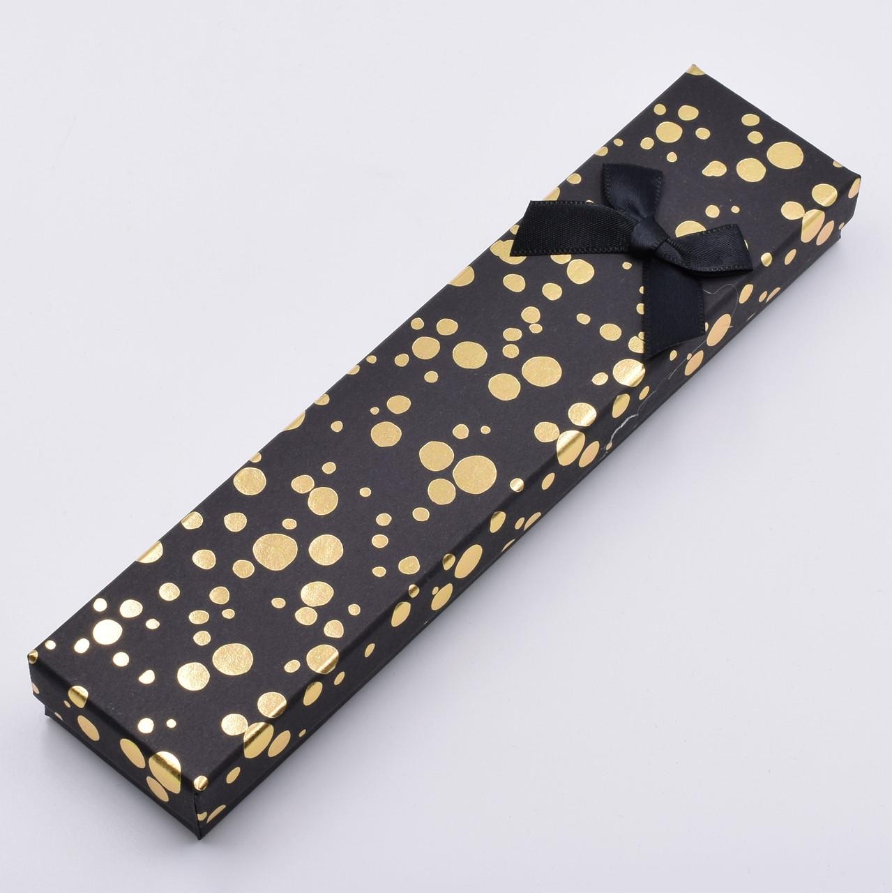 Футляр черный 741181 для цепочек браслетов размер 21х4 см