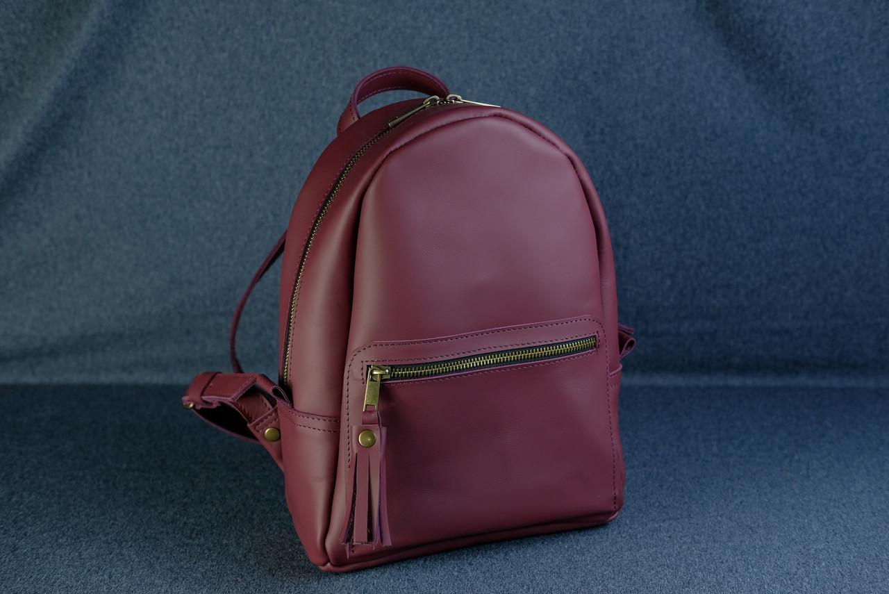 Жіночий шкіряний рюкзак Лімбо, розмір середній, шкіра Grand, колір бордо