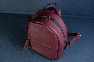 Жіночий шкіряний рюкзак Лімбо, розмір середній, шкіра Grand, колір бордо, фото 3
