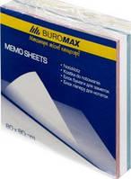 Папір д/нотаток 80х80х30мм веселка склеєний BUROMAX