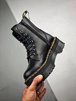 Ботинки зимние кожаные Dr.Martens Jadon Black Чёрные . Доктор Мартинс. (36-37-38-39р.)