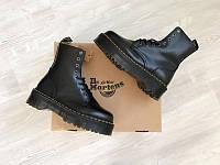Ботинки женские Dr. Martens Jadon Black / Др. Мартенс .Зима на меху