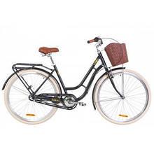 "Велосипед Дорожник 28"" RUBY рама-19"" Al 2020 серый, багажник + корзина (OPS-D-28-181)"