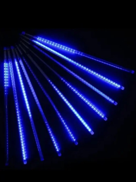 Гірлянда LED світлодіодна «Тануть бурульки» холодний, теплий, синій кольори