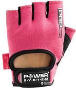 Перчатки для фитнеса Power System Pro Grip PS-2250 Розовые M,L