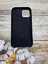 Чехол на iPhone 12 силиконовый Silicone Case оригинальный цветной противоударный с микрофиброй, фото 3