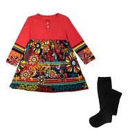 Костюм: Платье, колготы Losan Mc baby girls (526-8009AD/59) Коралловый 3 Years-98 см