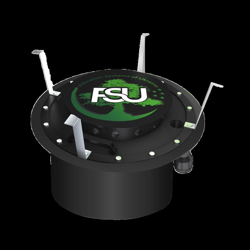 """Промышленно-бытовой фильтр """"под люк"""" из сепаратором влаги FSU для складских помещений"""