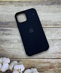 Чехол на iPhone 12 Pro силиконовый Silicone Case оригинальный цветной противоударный с микрофиброй