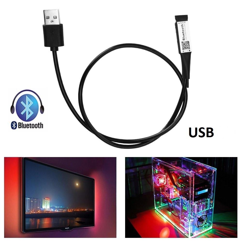 RGB мини контроллер-провод Bluetooth с USB разъемом
