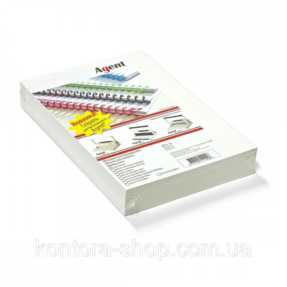 Обложки картонные А4 250 г/м2 белые (100 штук)