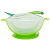 Тарелка с присоской (зеленая)