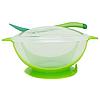 Тарілка з присоском (зелена)