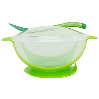 Тарелка с присоской (зеленая), фото 1