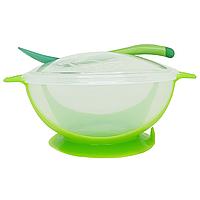 Тарілка з присоском (зелена), фото 1