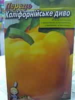 Семена перца сладкого желтого кубовидного сорт Калифорнийского чудо среднеранний толстостенный 5 грамм семян