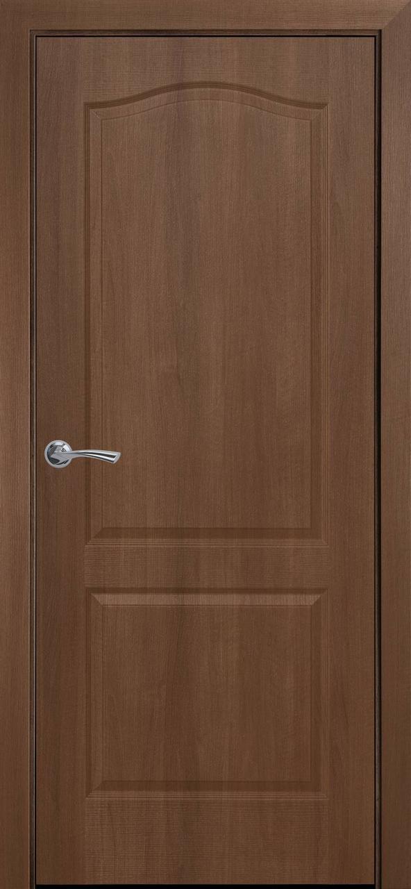 """Дверь межкомнатная """"Новый Стиль"""" модель ПВХ Классик, золотая ольха (глухое)"""