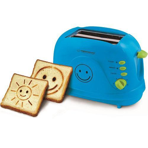 Тостер Esperanza EKT003B Smiley blue