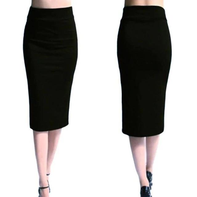 женская юбка из дайвинга миди