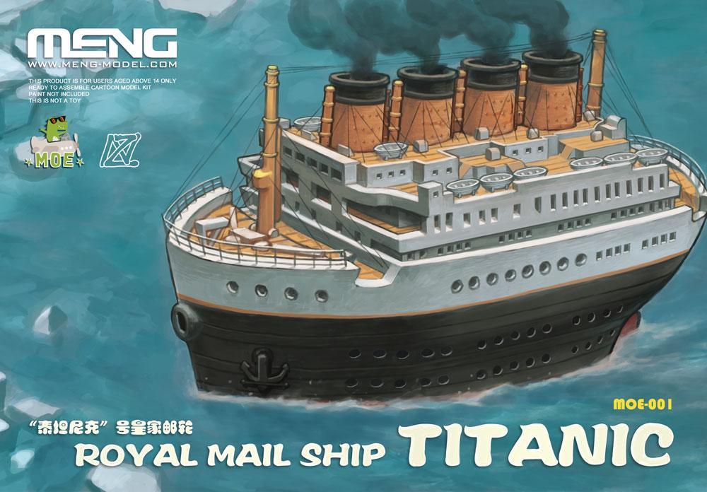 Титаник. R. M. S. Titanic, картонная мультяшная модель. MENG MODELS MOE-001