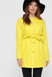 Жовтий короткий плащ жіночий