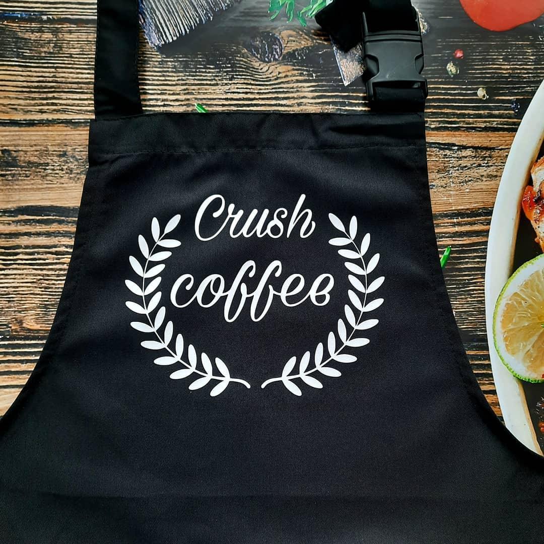 "Фартук с принтом ""Crush coffee"""