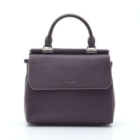 Женская сумка David Jones 6131-1T new d. бордовая, фото 2