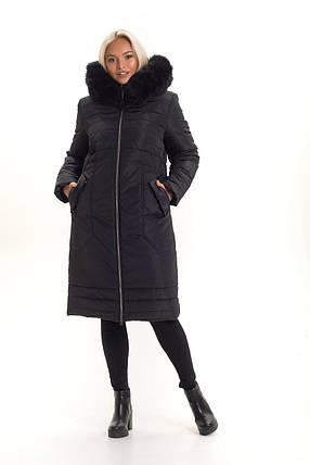 Молодежное зимнее пальто с  натуральним  мехом с 48 по 56 размер, фото 2