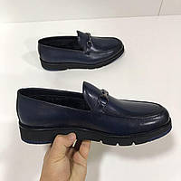 Мужская обувь с мехом от Angelo Ruffo 43 размер темно синий