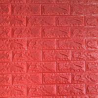 Декоративная 3D панель самоклейка под кирпич Красный 700x770x7мм, фото 1