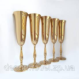Свадебные бокалы Bohemia Fregata 190 мл золотистые
