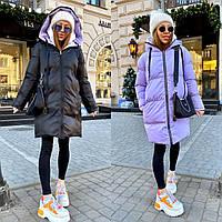 Женская Двусторонняя Куртка с капюшоном