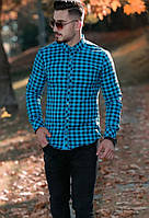 Рубашка мужская с длинным рукавом Rubaska, утепленная, размер L-XL