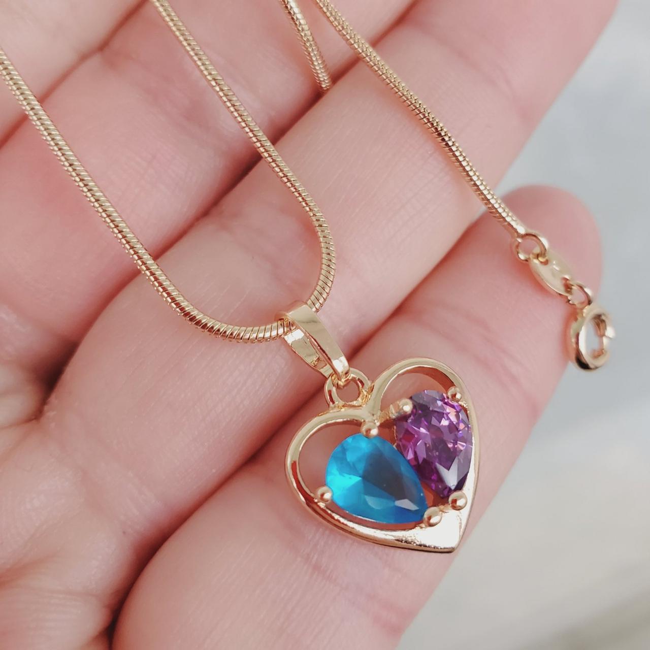Кулон сердце с цепочкой снейк 1мм 45см xuping медицинское золото позолота 18К  5278