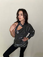Блуза в пайетку, фото 1
