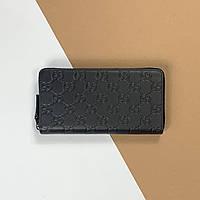 Кожаный кошелек Gucci 21 см (Гуччи) арт. 33-07